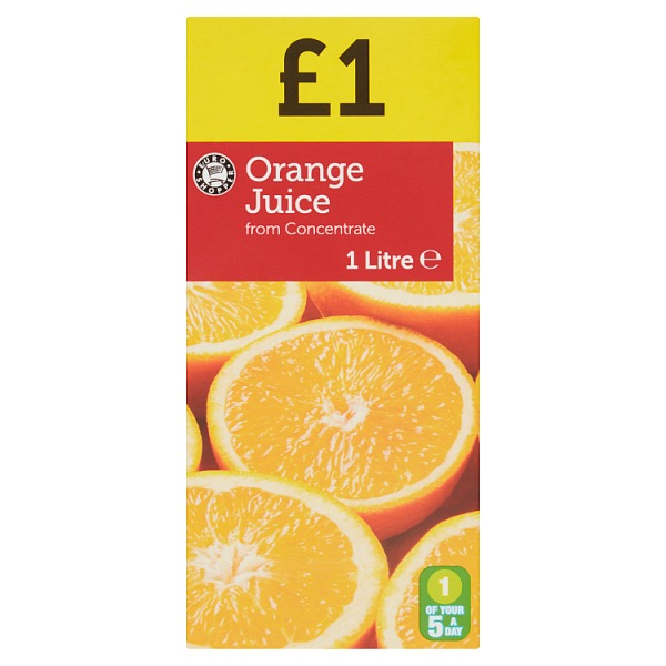 Euro Shopper Orange Juice from Concentrate 1 Litre